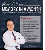 "Special Offer form Ron White's ""Memory in a Month"""